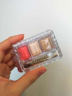 🚚 Canmake鼻影眼影打亮盤