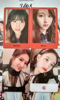 OFFICIAL TWICE YES OR YES PHOTOCARDS