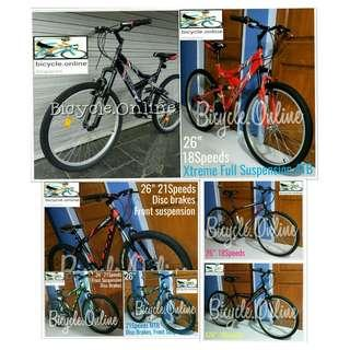 MTB / Mountain Bikes from $129. Multi-speeds. Brand new bicycles. *Whatsapp 81988865 for details.