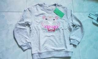 🚚 Bnwt authentic kenzo grey pullover L for 5-7 years old