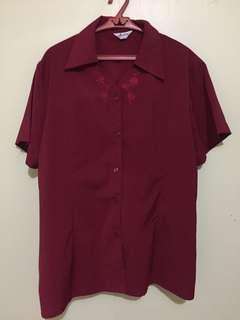 Red maroon blouse