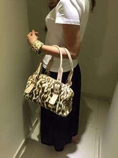 Dior handbag with bracelet in a set green leopard