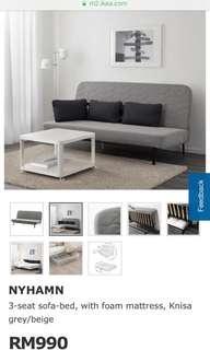 Ikea sofa bed 2 seated