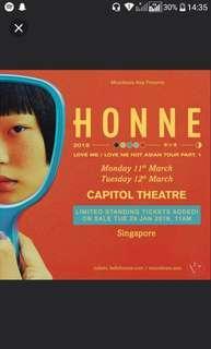 Honne concert tickets