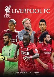 Liverpool FC A3 Calendar 2019