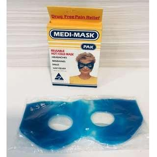 (NEW & UNUSED) Medi Pak Gel Mask Reusable Hot/ Cold Travel Massager Goggles Soothing