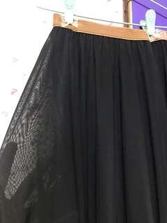 🚚 Black Mesh Midi Skirt