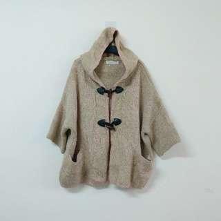 🚚 出清韓製針織毛衣連帽外套(F)