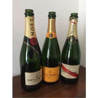 Empty Champagne & Wine Bottles for Home Decor & Craft | DIY Project | Crafting | Upcycle
