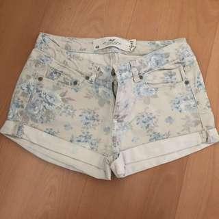 H&M Printed Denim Shorts