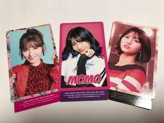 🚚 [INC] Twice Momo Japan OMT, WMU, Candy Pop Unpunched Photocard
