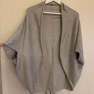 🛍二手衣大拍賣🛍 #ZARA #罩衫/圍巾 #淺灰色