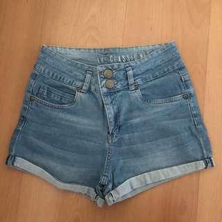Cotton On High-Waisted Denim Shorts