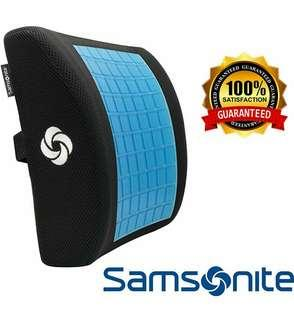 🚚 Samsonite Lumbar Support Pillow, Memory Foam with Cooling Gel Technology, Designed for Lower Back Pain Relief, Ventilated Mesh, Fits Most Vehicles, Improves Posture, Ergonomic, Washable Cover, Black