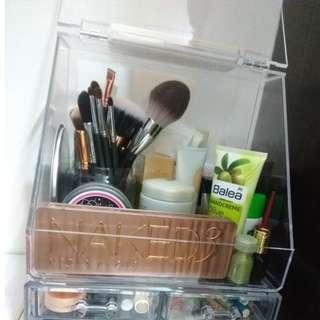 大號帶蓋抽屜防塵亞克力化妝品收納盒女宿舍梳妝台浴室口紅儲物盒