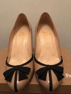 Christian Louboutin Lavalliere 85 nude patent