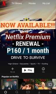 Netflix Premium (Renew Account)