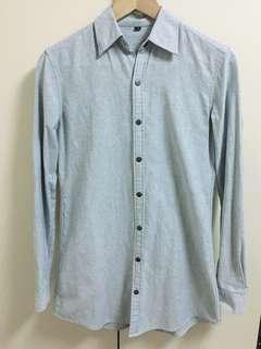 🚚 淺藍色顯瘦襯衫