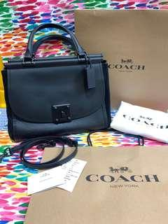 台灣正品Coach Drifter Carry 全新真皮手提肩背包