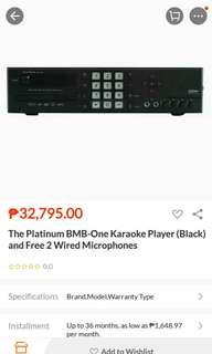 Platinum bnb one videoke mix with amp