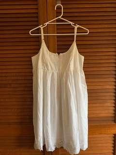 Brand new Forever New White dress with lace details size 14