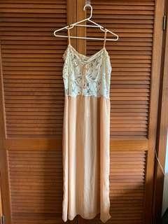 BNWT Sportsgirl Bohemian maxi dress with lace