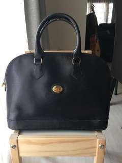 Michel Angelo Paris Black Leather Bag