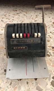 Vintage cheque machine