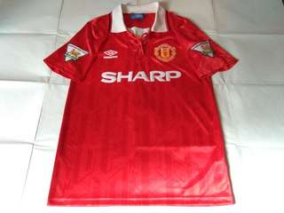 584c40503 Authentic Never Been Worn Manchester United Umbro 1992 Home Retro Football  Jersey With Cantona 7 Print