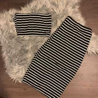 Striped slinky set
