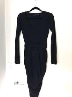 Portman's fitted dress