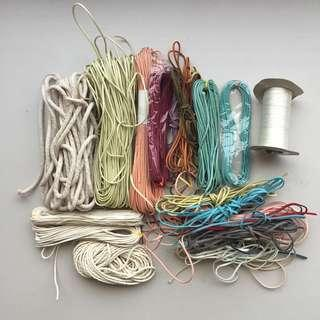 Craft Supplies Stash Watch Cord Faux Suede Cord Cotton Cord Rope