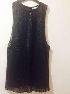 Sexy-back Black Sleeveless Top