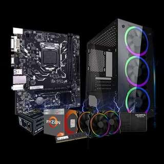 🚚 1stPlayer Fire Dancing V3 (AMD Ryzen 3 2200G / 8GB 2666MHZ / Radeon VEGA 8 / 240GB SSD)