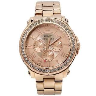 Juicy Couture Pedigree Women's Watch Rose Gold