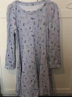 Franche lippee 日本製 灰色 玩具圖案 連身裙