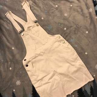 🚚 全新 白色彈性吊帶裙