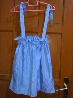 Overall skirt blue