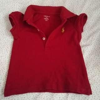 Authentic Rl polo shirt top 9m
