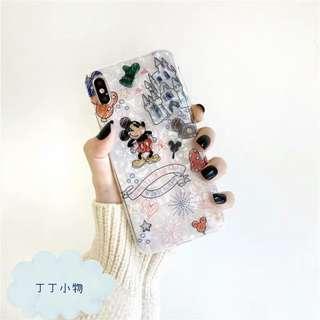 iPhone/Samsung case - 塗鴉貝殼紋卡通殼