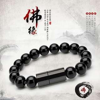Usb charging bracelet