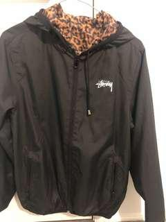 STUSSY reversible wind breaker/ jacket black NEW
