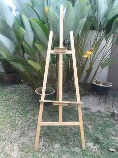 Wood easel stand for RENT!!