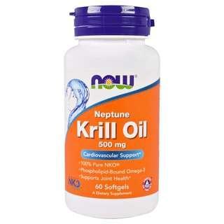 [預訂] Now Foods Neptune Krill Oil 磷蝦油 500mg  $150/60粒, $285/120粒
