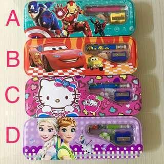 4-pc Pencil box/ stationary/ gift set