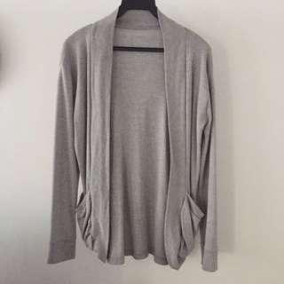 Unisex Grey Cotton Cardigan