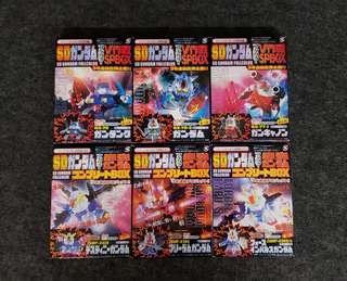 SD Gundam Full Color CO-CO 雜誌附錄 限定透明版 全六種 連盒  日本直送 高達 高達扭蛋