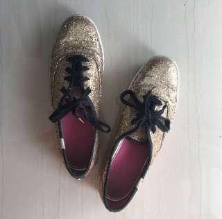 REPRICED Authentic Keds x Kate Spade Gold
