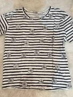Uniqlo Stripes Daisy Tee