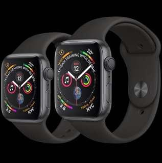 2f393adc46d Apple watch series 4 space grey aluminium case black sport band (GPS Only)